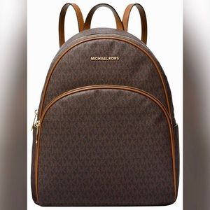 MK Abbey Large Backpack 🎒 Brown/Acorn